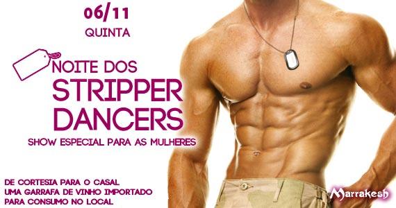 Noite dos Stripper Dancers animando a quinta-feira das mulheres no Marrakesh Club Eventos BaresSP 570x300 imagem