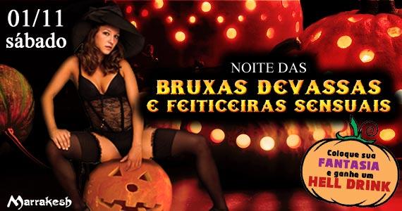 Noite das Bruxas Devassas e Feiticeiras Sensuais neste sábado no Marrakesh Club Eventos BaresSP 570x300 imagem