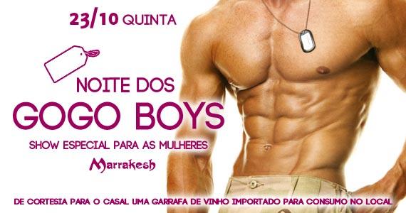 Noite dos Gogo Boys para animar a noite de quinta-feira no Marrakesh Club