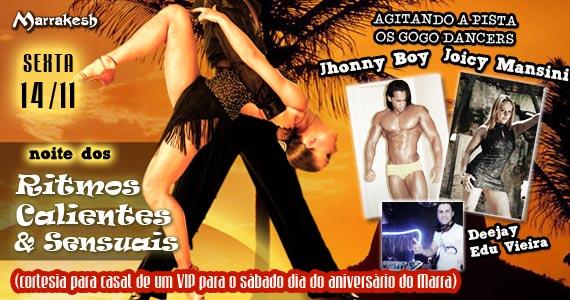Noite dos Ritmos Calientes & Sensuais com strip-tease no Marrakesh Club Eventos BaresSP 570x300 imagem