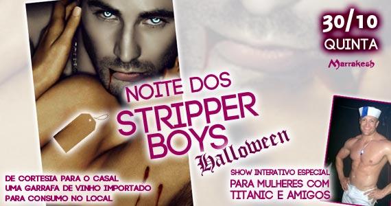 Noite dos Stripper Boys Halloween esquenta o clima quinta-feira no Marrakesh Club Eventos BaresSP 570x300 imagem
