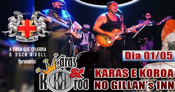 Banda Karas & Koroa comanda a noite de sexta com muito rock no Gillan's Inn Eventos BaresSP 570x300 imagem