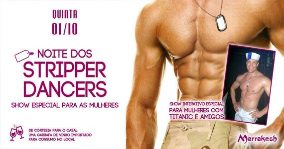 Noite dos Stripper Dancers esquenta a quinta com show interativo no Marrakesh Club Eventos BaresSP 570x300 imagem