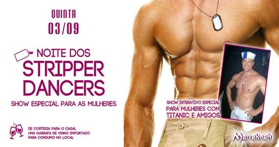 Noite dos Stripper Dancers com show interativo para as mulheres no Marrakesh Club Eventos BaresSP 570x300 imagem