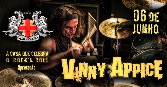 Vinny Appice se apresenta neste sábado com muito rock no Gillan's Inn Eventos BaresSP 570x300 imagem