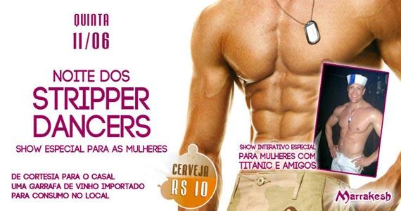 Noite dos Stripper Dancers nesta quinta-feira com show interativo no Marrakesh Club Eventos BaresSP 570x300 imagem