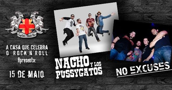 Nacho Y los Pussygatos e No Excuses se apresentam sexta-feira no Gillan's Inn com muito pop rock Eventos BaresSP 570x300 imagem