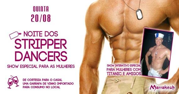 Noite dos Stripper Dancers para animar a quinta no Marrakesh Club Eventos BaresSP 570x300 imagem