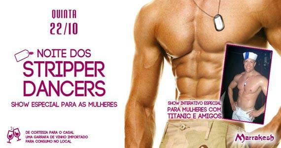 Noite dos Stripper Dancers com show para as mulheres no Marrakesh Club na quinta Eventos BaresSP 570x300 imagem