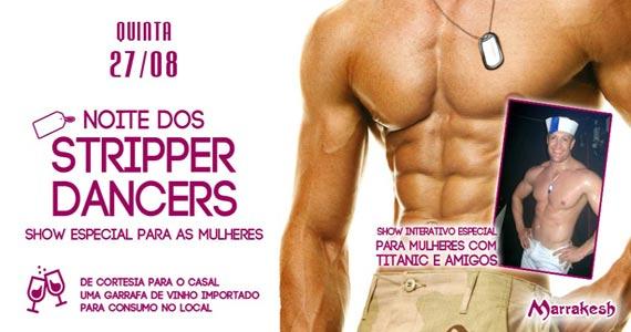 Noite dos Stripper Dancers esquenta a quinta-feira no Marrakesh Club Eventos BaresSP 570x300 imagem