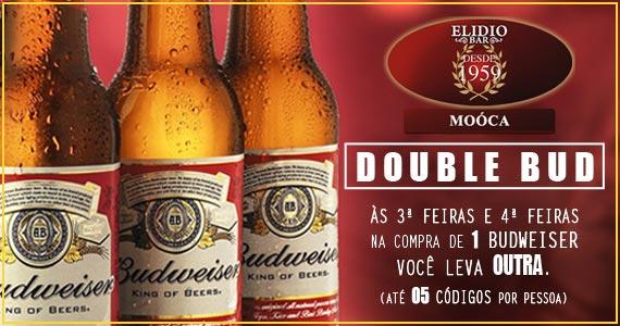 Double Dubweiser todas as terça e quartas-feiras no happy hour do Elidio Bar Eventos BaresSP 570x300 imagem