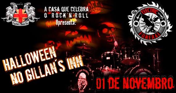 Halloween no Gillans Inn com a banda Electric Funeral animando a noite de sábado Eventos BaresSP 570x300 imagem