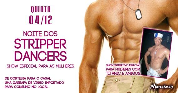 Noite dos Strippers Dancers com show para as mulheres no Marrakesh Club Eventos BaresSP 570x300 imagem