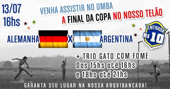 Trio Gato com Fome com transmissão da Final da Copa do Mundo no Umbabarauma Bar Eventos BaresSP 570x300 imagem