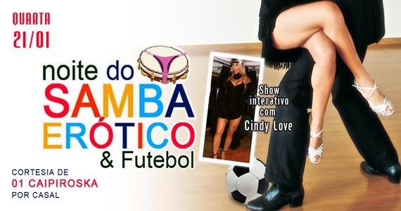 Marrakesh Club recebe a Noite do Samba Er�tico & Futebol nesta quarta-feira