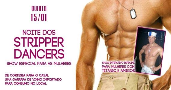 Noite dos Stripper Dancers com show especial para as mulheres no Marrakesh Club