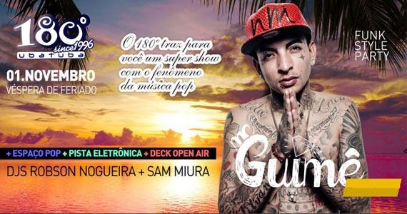 MC Guimê toca sucessos da carreira  no palco do 180 Graus Ubatuba Eventos BaresSP 570x300 imagem