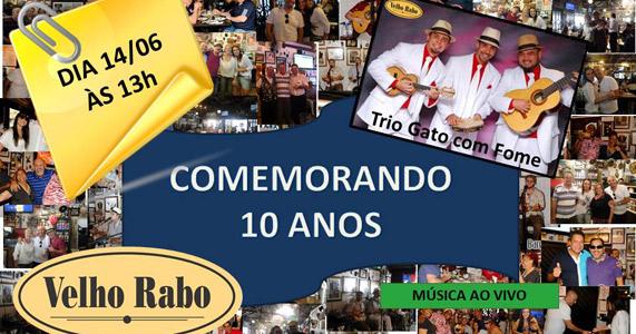 Velho Rabo celebra neste sábado 10 anos de existência Eventos BaresSP 570x300 imagem