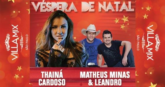 Véspera de Natal com Thainá Cardoso + Matheus Minas & Leandro Eventos BaresSP 570x300 imagem