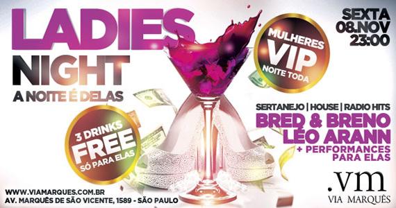 Festa Ladies Night com Léo Arann e Bred & Breno agitam a noite de sexta-feira do Via Marquês Eventos BaresSP 570x300 imagem