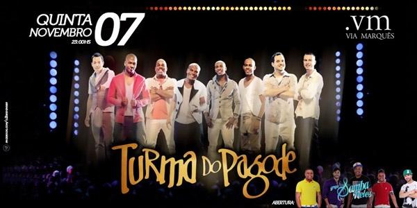 Turma do Pagode recebe o agito do grupo Turma do Pagode para animar a noite de quinta-feira no Via Marquês Eventos BaresSP 570x300 imagem