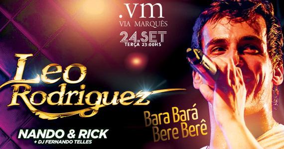 Leo Rodrigues do hit Bara Bará, Bere Berê se apresenta sexta terça-feira no Via Marquês Eventos BaresSP 570x300 imagem