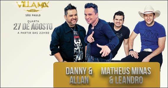 Matheus Minas & Leandro agitam a noite de quarta-feira do Villa Mix Eventos BaresSP 570x300 imagem