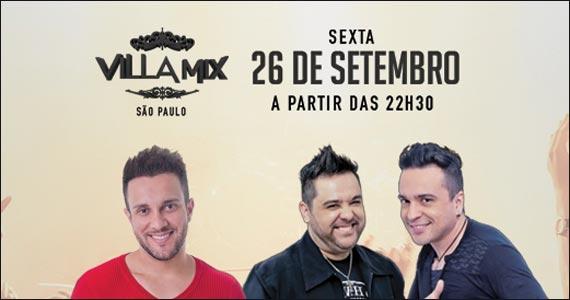 Apresentação de Bruno Cesar e Danny & Allan no palco do Villa Mix Eventos BaresSP 570x300 imagem