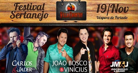 Festival Sertanejo apresenta João Bosco & Vinícius e convidados no Villa Country Eventos BaresSP 570x300 imagem