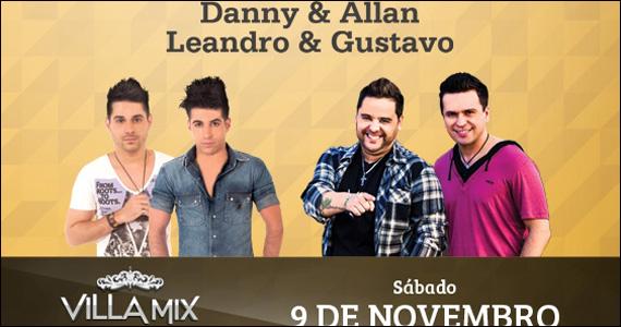 Apresentação das duplas Danny & Allan e Leandro & Gustavo no Villa Mix Eventos BaresSP 570x300 imagem