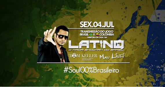 Wood's SP transmite jogo do Brasil com show de Latino e DJs convidados na sexta Eventos BaresSP 570x300 imagem
