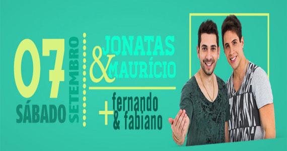 Duplas sertanejas Jonatas & Maurício e Fernando & Fabiano se apresentam na Wood's  Eventos BaresSP 570x300 imagem