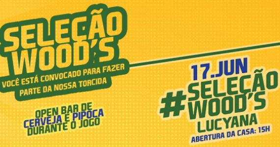 Segundo Jogo da Seleção Brasileira Ao Vivo e show da cantora Lucyana na Wood's Eventos BaresSP 570x300 imagem