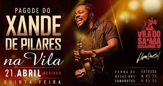 Pagode do Xande de Pilares anima o feriado na Vila do Samba Eventos BaresSP 570x300 imagem