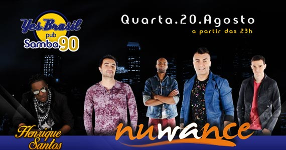 Nuwance e cantor Henrique Santos se apresentam no palco do Yes Brasil Eventos BaresSP 570x300 imagem