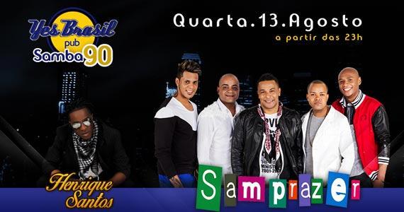 Projeto Samba 90 com grupo Nuwance e Henrique Santos no palco do Yes Brasil Pub Eventos BaresSP 570x300 imagem
