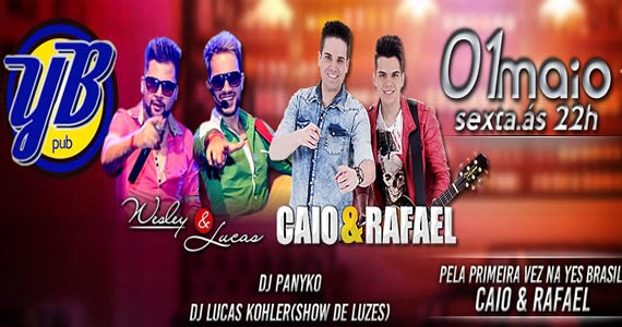 Caio & Rafael e convidados animam a noite da Yes Brasil Pub Eventos BaresSP 570x300 imagem