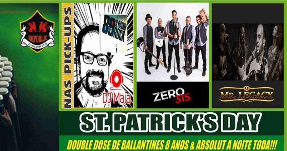 Pré St. Patrick's Party no Republic Pub com shows das bandas Mr. Legacy e Zero 315 Eventos BaresSP 570x300 imagem