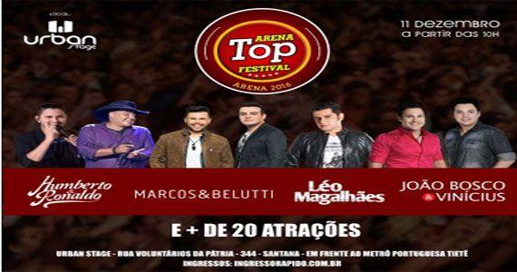 Rádio TOP FM comemora 20 anos com mega shows no Urban Stage Eventos BaresSP 570x300 imagem