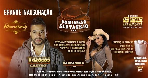 Domingão Sertanejo é no Marrakesh Club