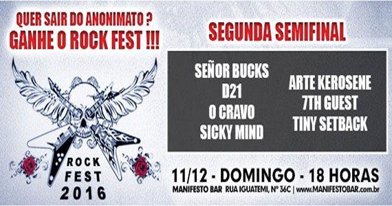 Domingo acontece a 2° Semifinal do Rock Fest no Manifesto Bar Eventos BaresSP 570x300 imagem