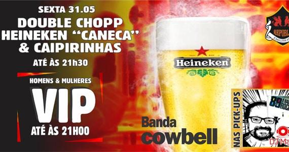 Republic Pub recebe novamente show da banda Cowbell e DJ Maia Eventos BaresSP 570x300 imagem