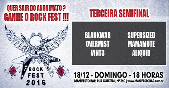 Domingo acontece a 3° Semifinal do Rock Fest no Manifesto Bar Eventos BaresSP 570x300 imagem