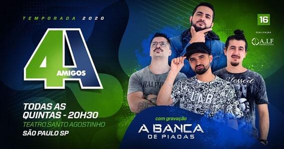 4 Amigos abre nova temporada no Teatro Santo Agostinho Eventos BaresSP 570x300 imagem