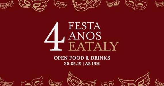 Eataly Brasil comemora aniversário de 4 anos com festa Eventos BaresSP 570x300 imagem
