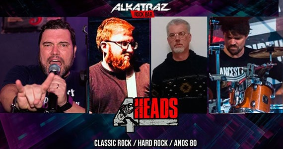 Banda 4 Heads agita o público do Alkatraz com classic rock