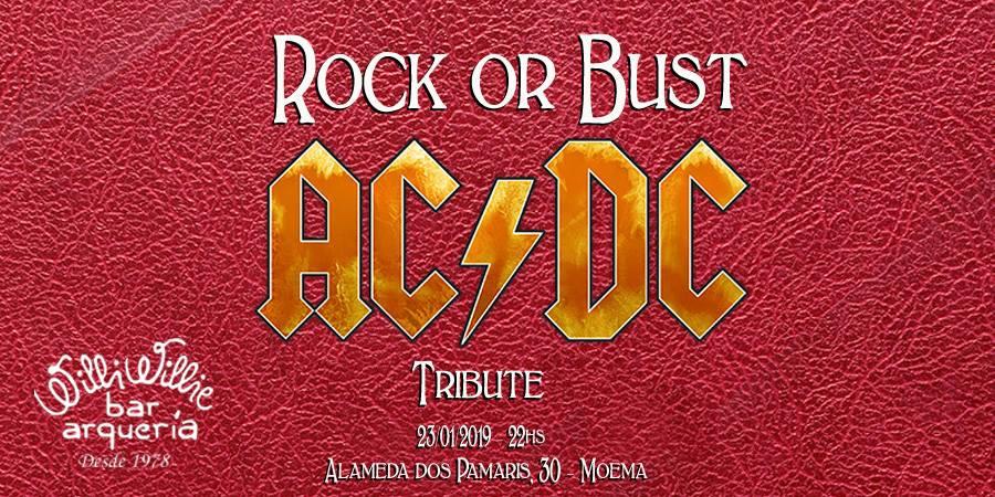 Programação - Show com Rock or Bust - AC/DC Tribute