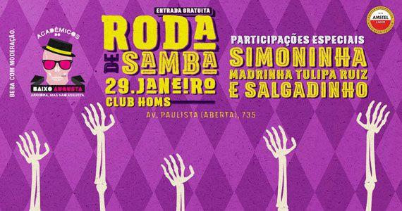 eventos - Roda de Samba do Acadêmicos do Baixo Augusta no Club Homs