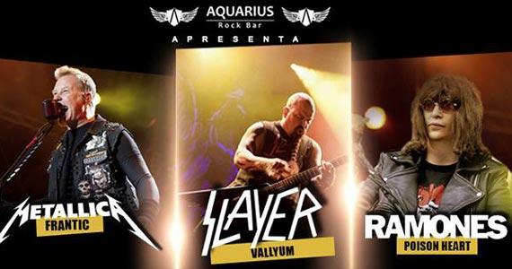 Bandas Frantic, Vallyum e Poison Heart se apresentam no Aquarius Rock Bar com clássicos do rock BaresSP