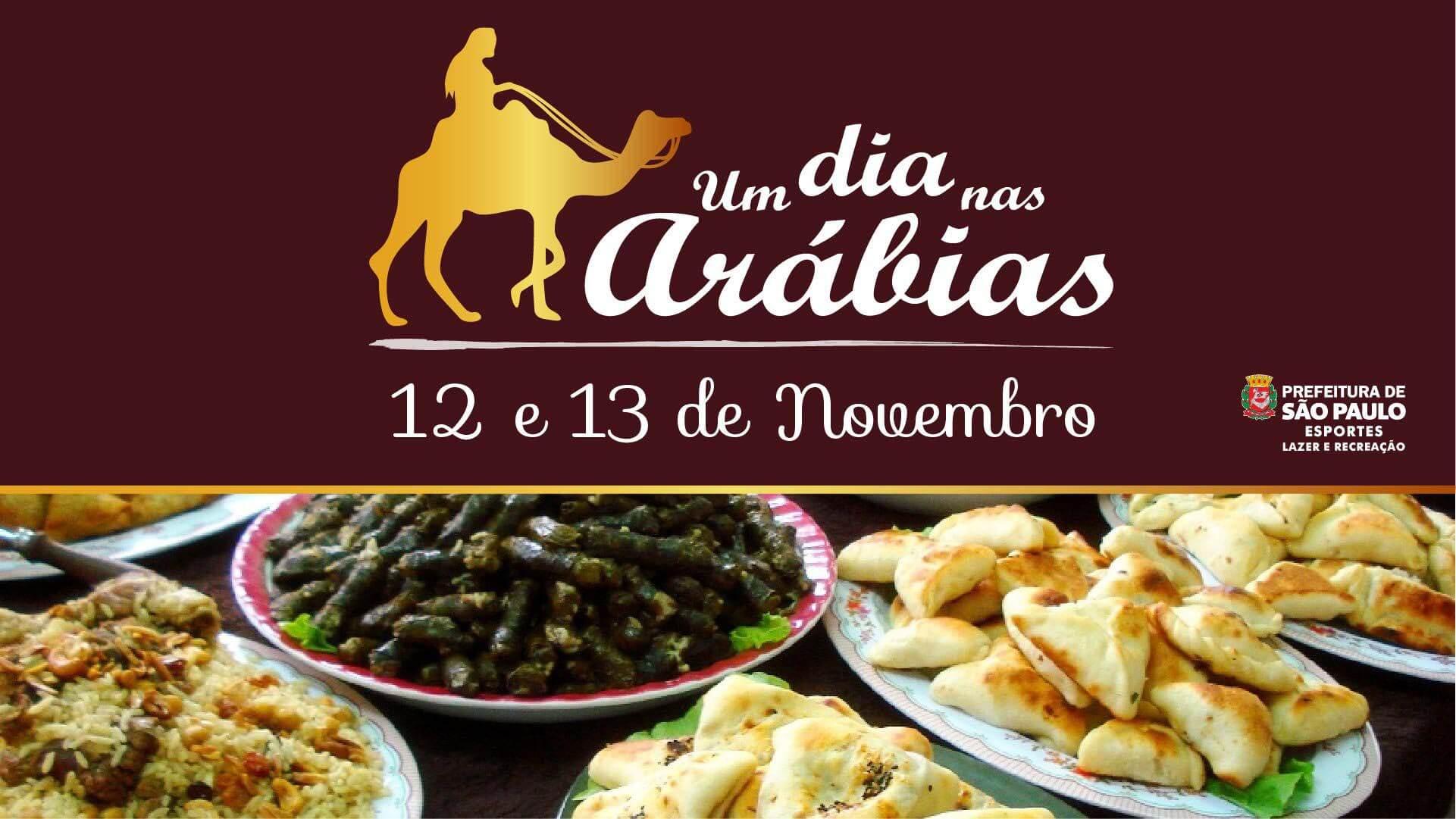 Festival Um Dia nas Arábias com entrada gratuita no Parque Ceret Eventos BaresSP 570x300 imagem